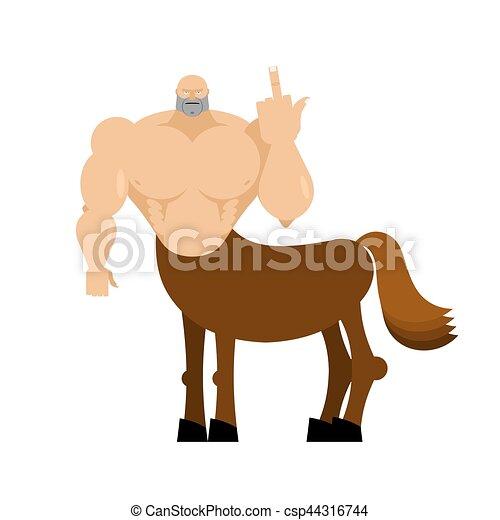 Creature. fantastico mostro isolated. fairytale cavallo