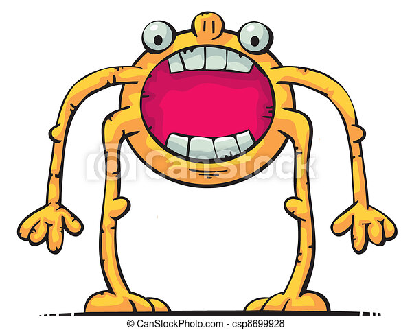 Creature with big mouth - csp8699928