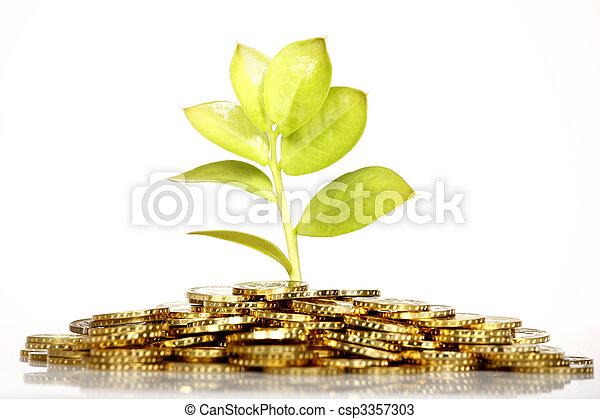 El dinero crece - csp3357303