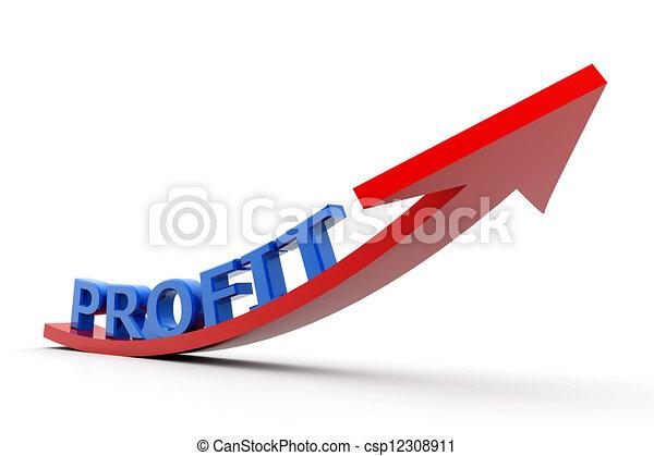 Aumentando gráficos de ganancias - csp12308911