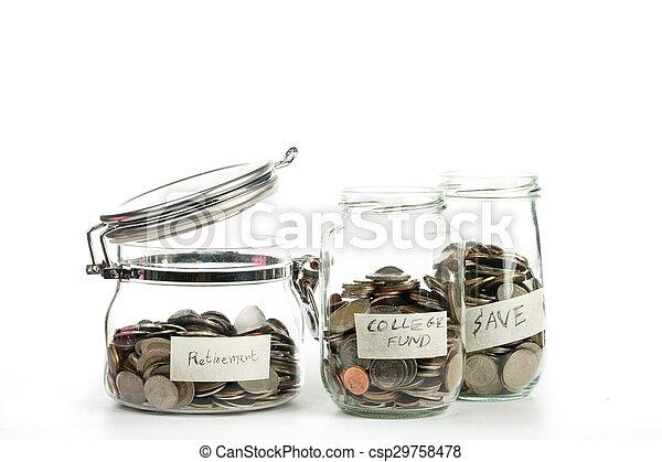 crecer, planta dinero, moneda, paso - csp29758478