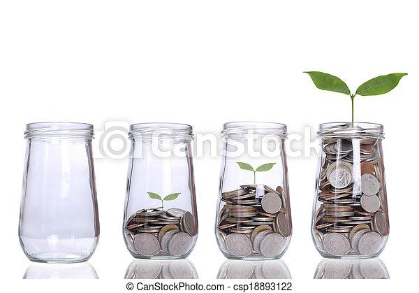 crecer, planta, paso - csp18893122