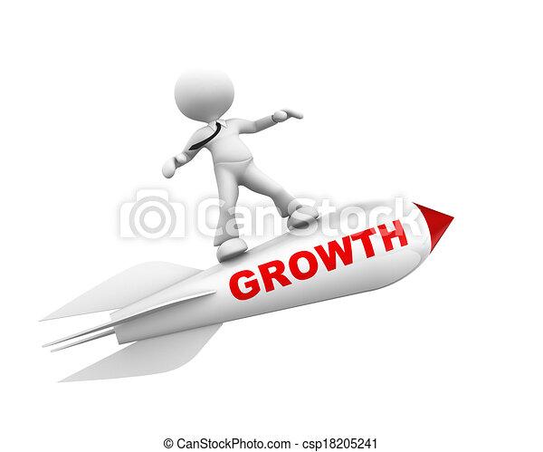 Un concepto de crecimiento - csp18205241