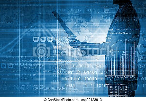 Crecimiento financiero - csp29128913
