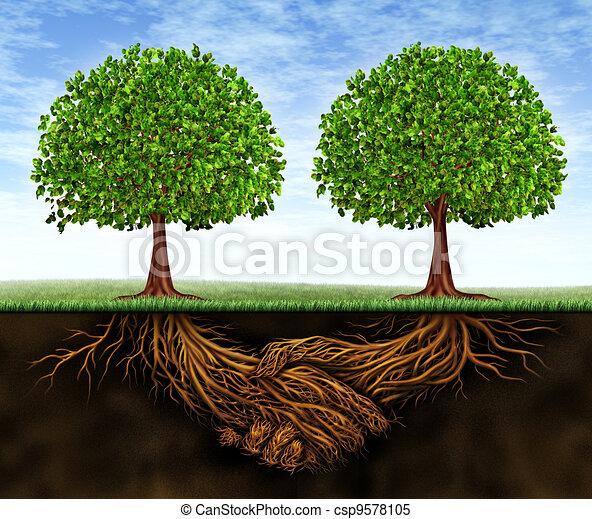 Crecimiento en equipo de negocios - csp9578105