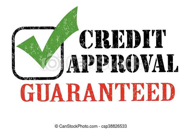Credit Approval Stamp Grunge Rubber On White