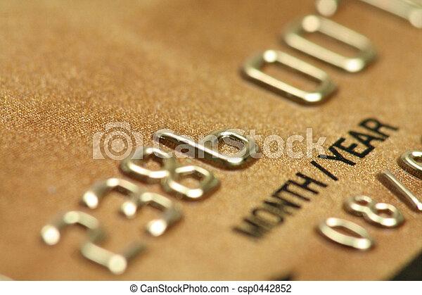 Credit card close up - csp0442852