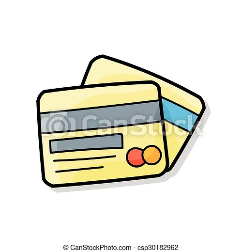 credit card doodle clip art vector search drawings and graphics rh canstockphoto ca credit card clip art images credit card clip art images