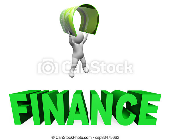 Credit Card Finance Means Accounting Illustration And Money 3d Rendering - csp38475662