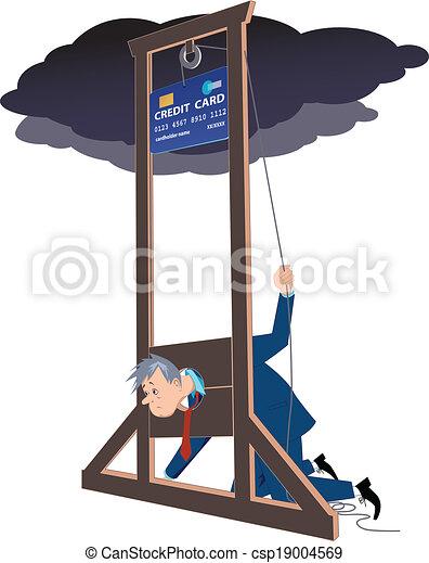 Credit card guillotine - csp19004569