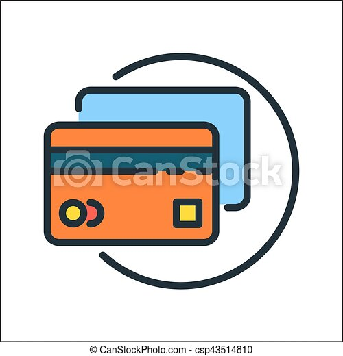 credit card icon color vector clip art search illustration rh canstockphoto com credit card clipart black and white credit card clipart png