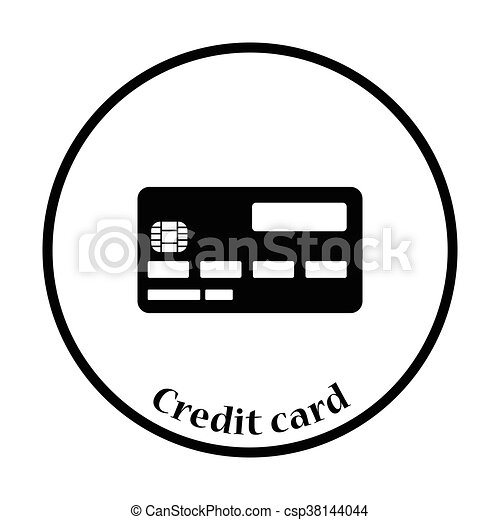credit card icon thin circle design vector illustration eps rh canstockphoto ie credit card machine clipart visa credit card clipart