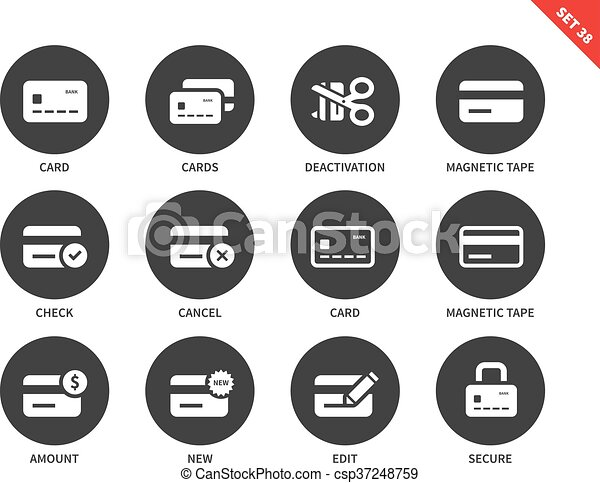 Credit card icons on white background credit card vector icons set credit card icons on white background csp37248759 reheart Images