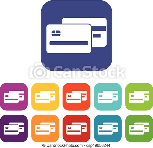 vector credit card icons awesome graphic library