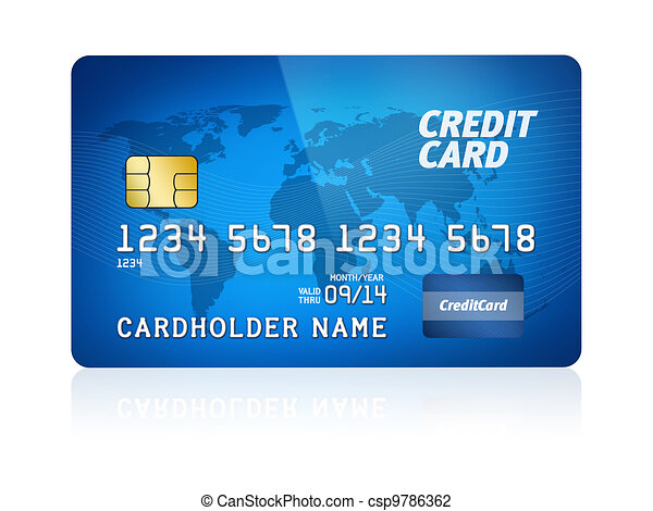credit card isolated csp9786362 - Plastic Credit Card