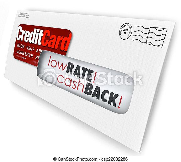 Credit Card Offer Letter Envelope Solicitation Low Rate Cash Bac - csp22032286