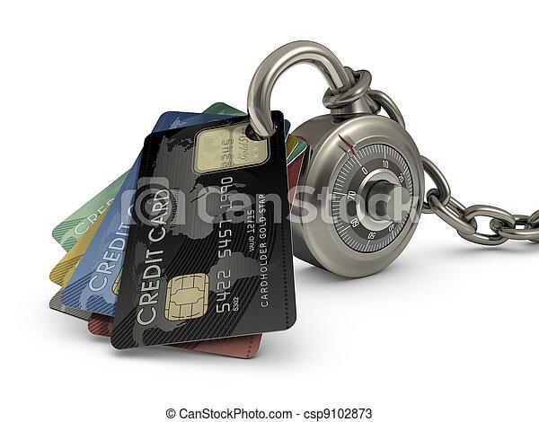 Credit Card Safety - csp9102873