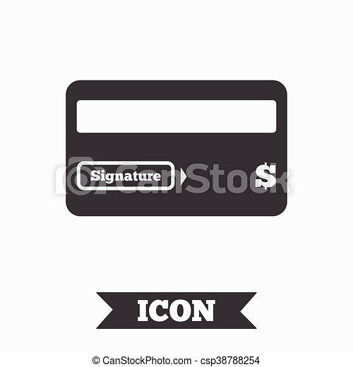 Credit Card Sign Icon Debit Card Symbol Virtual Money Graphic