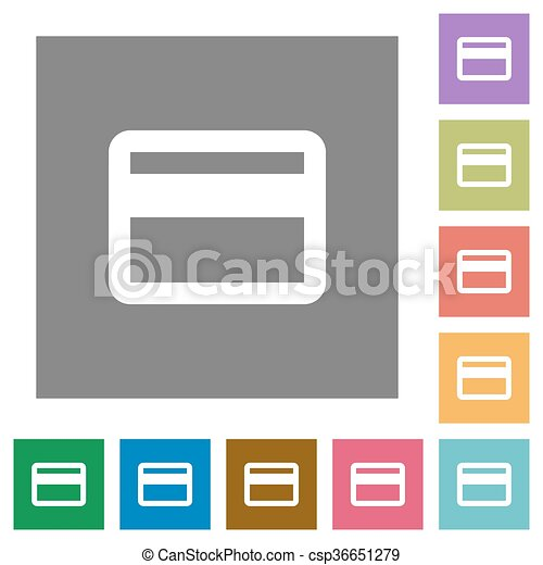 Credit card square flat icons - csp36651279