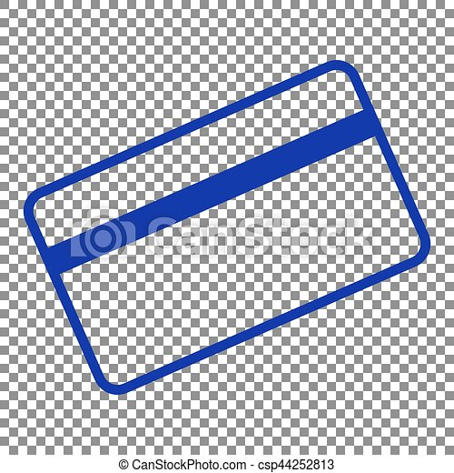 credit card symbol for download blue icon on transparent background