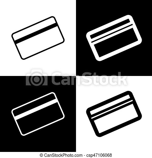Credit Card Symbol For Download Vector Black And White Icons And