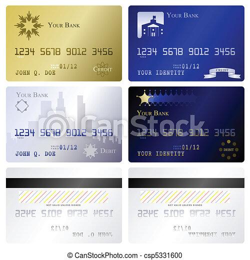 Credit card templates - csp5331600