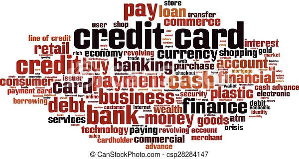 Credit card word cloud concept vector illustration eps vector credit card word cloud csp28284147 reheart Images