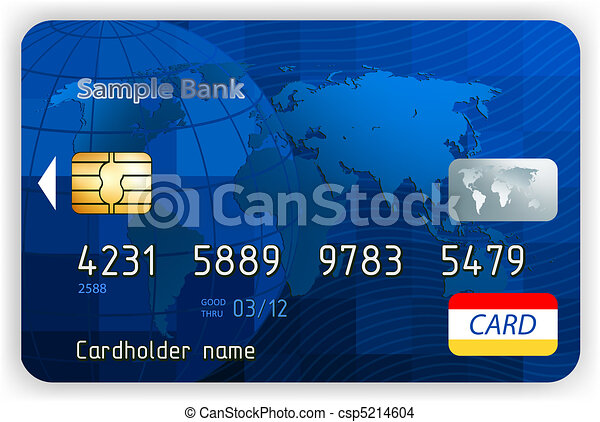 Credit cards, front view (no transparency). EPS 8 - csp5214604