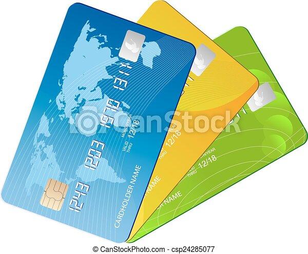 credit cards - csp24285077