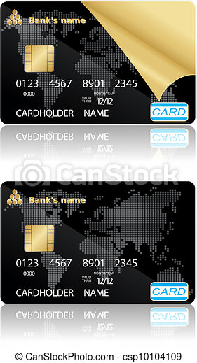 Credit cards. Vector illustration. - csp10104109