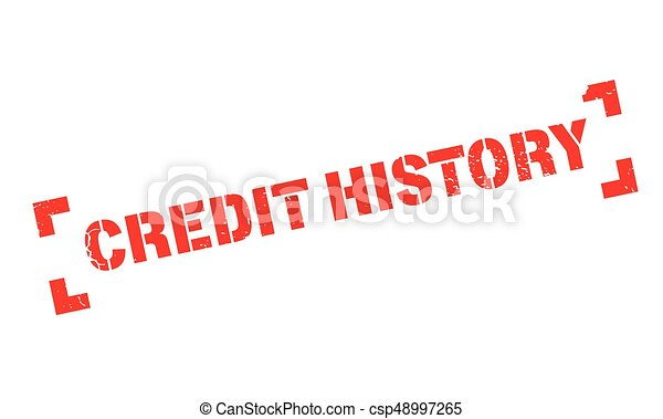 Credit History rubber stamp - csp48997265