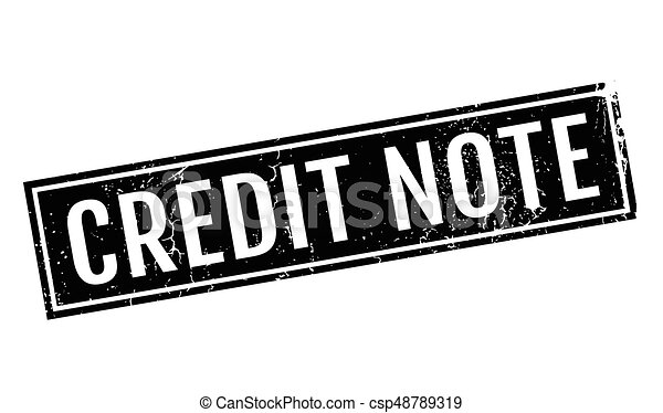Credit Note rubber stamp - csp48789319