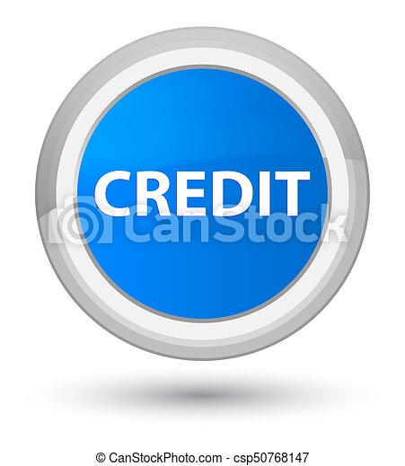 Credit prime cyan blue round button - csp50768147