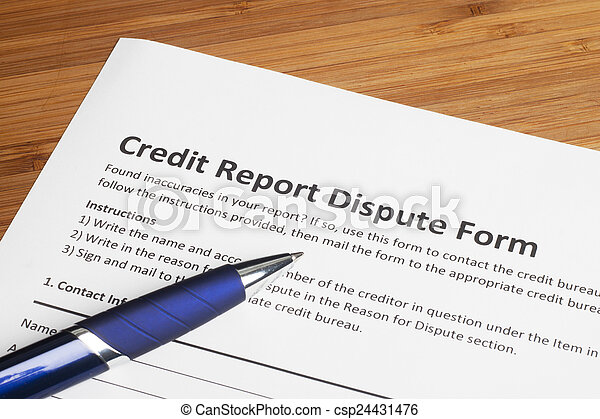 Credit report dispute score - csp24431476