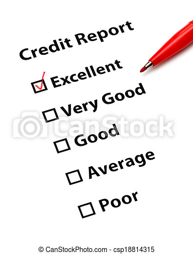 Credit report - csp18814315