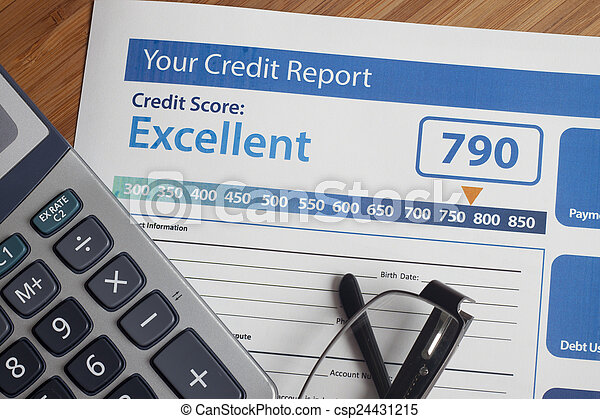 Credit report with score - csp24431215