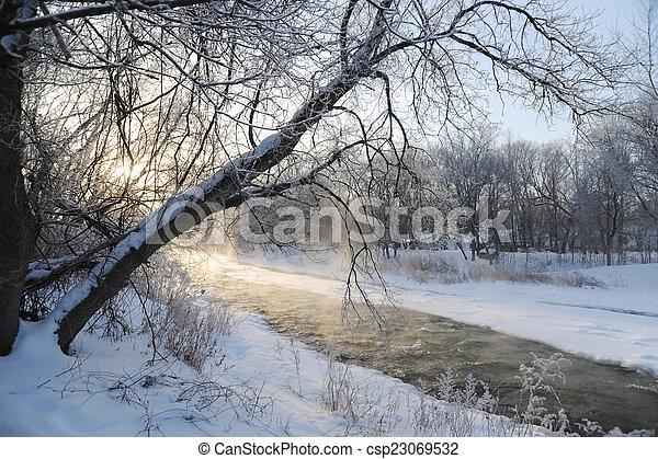 Credit river bank - csp23069532