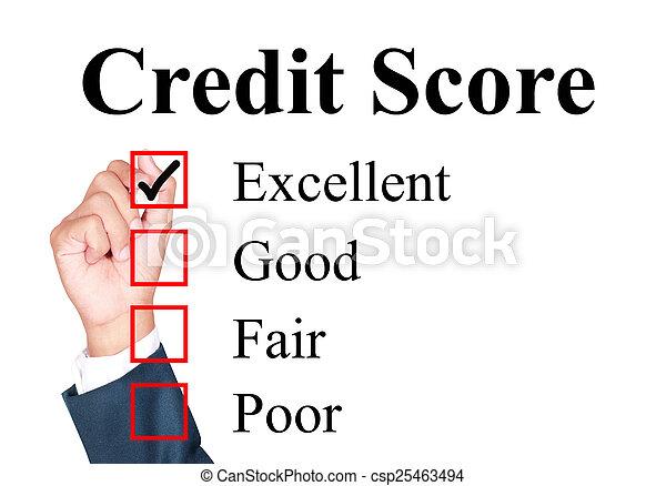 Credit score evaluation form - csp25463494