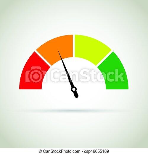 credit score gauge - csp46655189