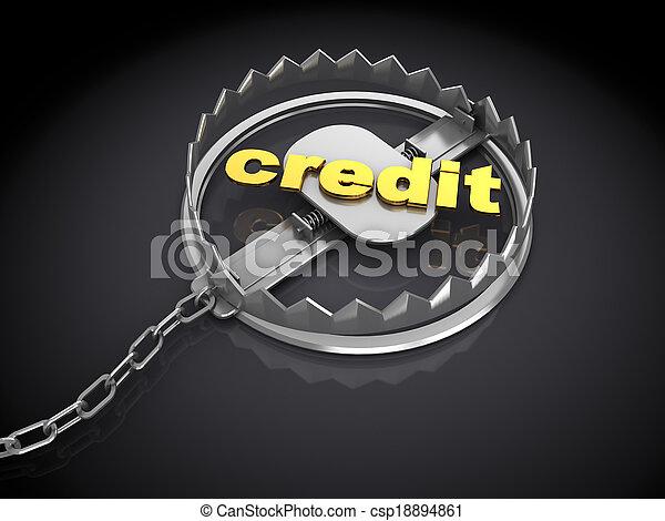 credit trap - csp18894861