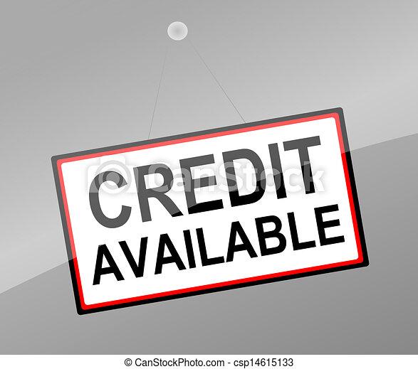 Concepto de crédito. - csp14615133