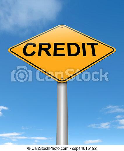 Concepto de crédito. - csp14615192