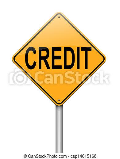 Concepto de crédito. - csp14615168