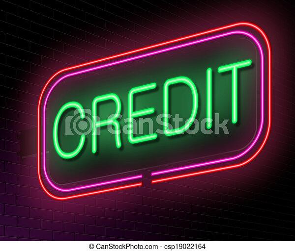 Concepto de crédito. - csp19022164