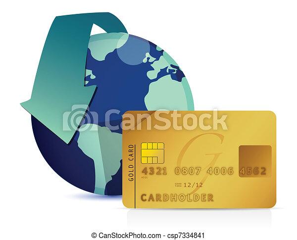 Ilustración mundial del concepto de crédito - csp7334841
