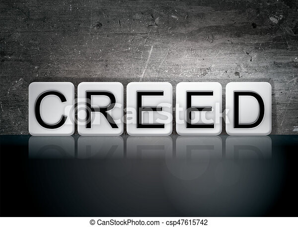 Creed Concept Tiled Word - csp47615742