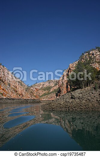 Creek reflections - csp19735487