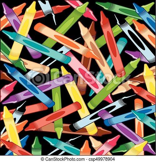 creions, quadrado, fundo - csp49978904
