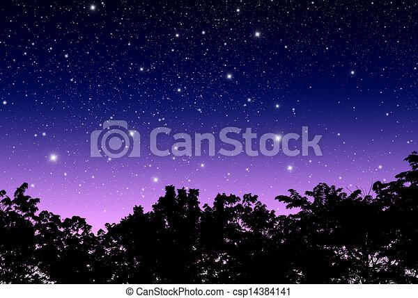 crepúsculo, céu - csp14384141