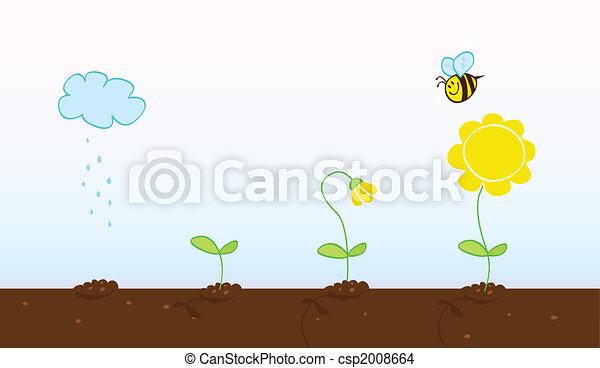 crescendo, fases, flor - csp2008664